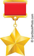 estrela, ouro, distinção