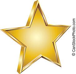 estrela ouro