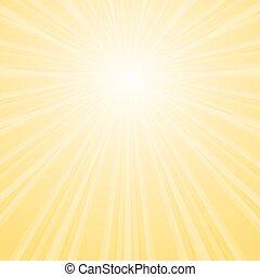 estrela, pacote, vigas, amarela, colors., fundo, divergente, brilhar