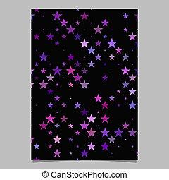 estrela, padrão, -, vetorial, desenho, fundo, folheto, documento, pentagram