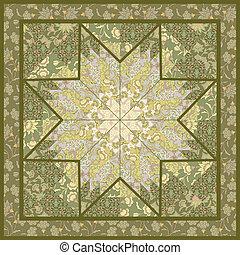 estrela, quilting, padrão, motivo, desenho, fundo