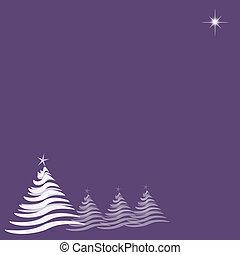 estrela roxa, árvores natal