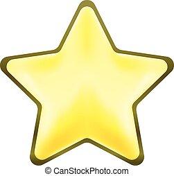 estrela, símbolo, metal, vetorial, prata, ícone