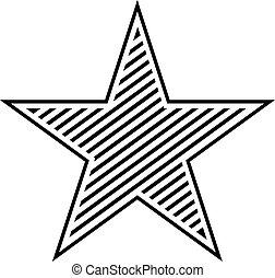 estrela, símbolo, vetorial, desenho