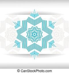 estrela, snowflakes, cristal, gráfico, decoração, símbolo, congelado