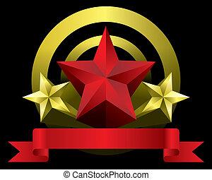 estrela, vermelho