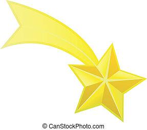 estrela, vetorial, tiroteio
