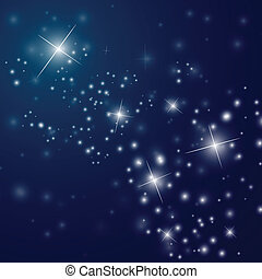 estrelado, abstratos, céu, noturna
