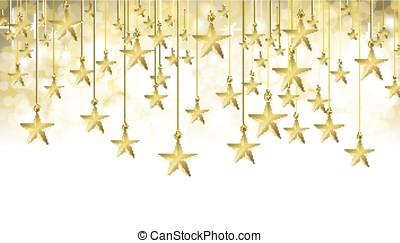 estrelado, bandeira, ouro