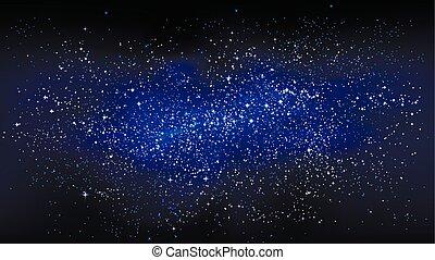 estrelado, espaço, desenho, exterior