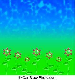 estrelado, flores