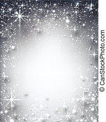 estrelado, inverno, natal, experiência.