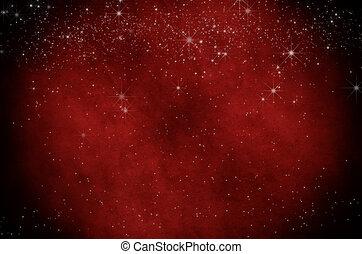 estrelado, natal, vermelho, pergaminho