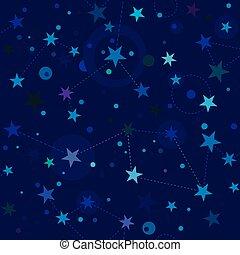 estrelado, noturna, padrão, swatch