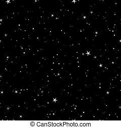 estrelado, noturna, seamless, padrão