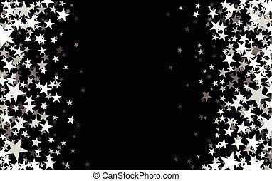 estrelado, pretas, experiência.