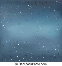 estrelado, vetorial, ilustração, sky.
