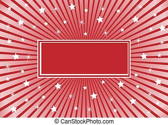 estrelas, abstratos, borgonha, fundo, branco vermelho