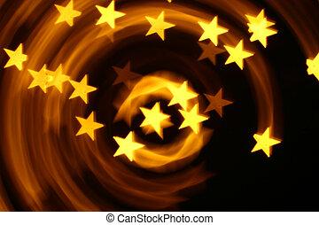 estrelas, bokeh