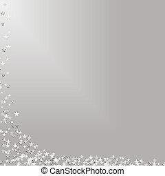 estrelas cadentes, prata, fundo
