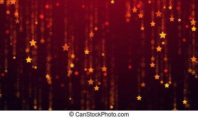 estrelas, chuva cadente, colora experiência