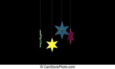 estrelas, com, caras