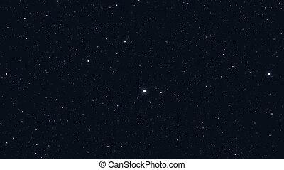 estrelas, em, a, sky., looped, animação