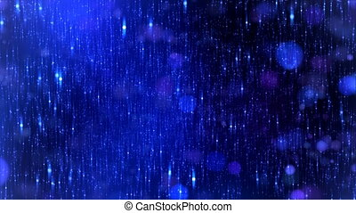 estrelas, fundo, azul