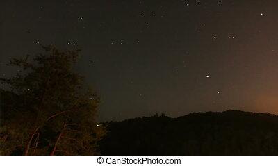 estrelas, lapso tempo, 2