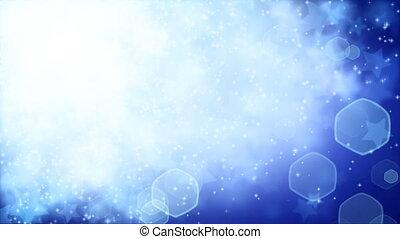 estrelas, ligado, experiência azul, volta