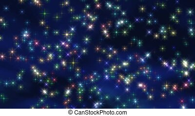 estrelas, neve