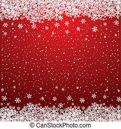 estrelas, neve, fundo, snowflake branco, vermelho