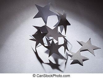 estrelas, papel, Natal