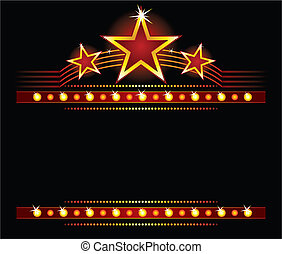 estrelas, sobre, copyspace