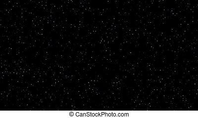 estrelas, twinkling, céu noite, realístico, volta
