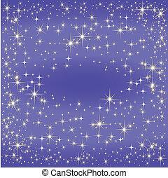 estrella azul, mapa, el, vía láctea