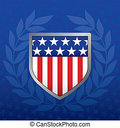 estrella azul, protector, plano de fondo, rojo blanco