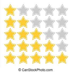 estrella, calidad, clasificación