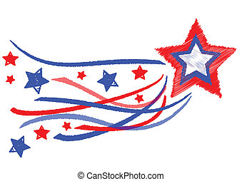 estrella, día, independencia
