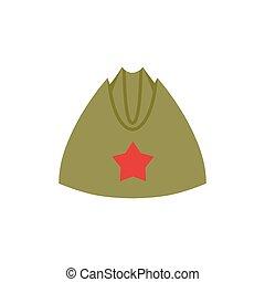 estrella, ejército, vendimia, gorra, forage-cap, soldiers., ...