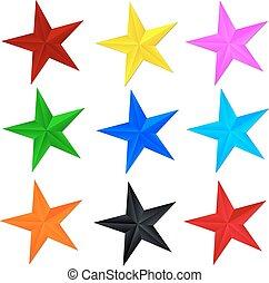 estrella, en, un, fondo blanco
