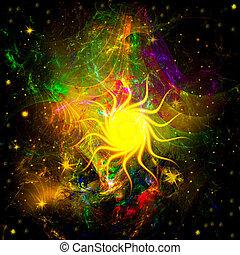 estrella, espacio exterior