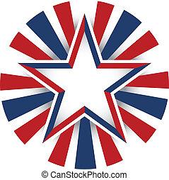 estrella, estados unidos de américa, celebración