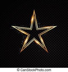 estrella, frame., banner., aislado, ilustración, fondo., ...