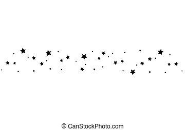 estrella fugaz, elegante, negro, rastro, fondo blanco