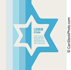 estrella, judío, cartel, david, lugar, texto, señal