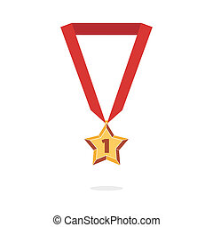 estrella, medalla