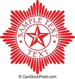 estrella, orden, (police, badge)