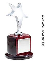 estrella, plata, premio