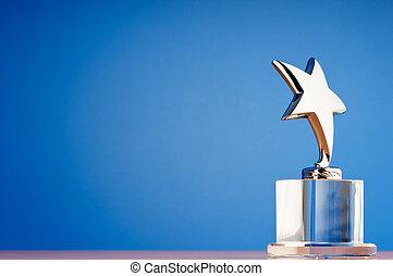 estrella, premio, contra, gradiente, plano de fondo